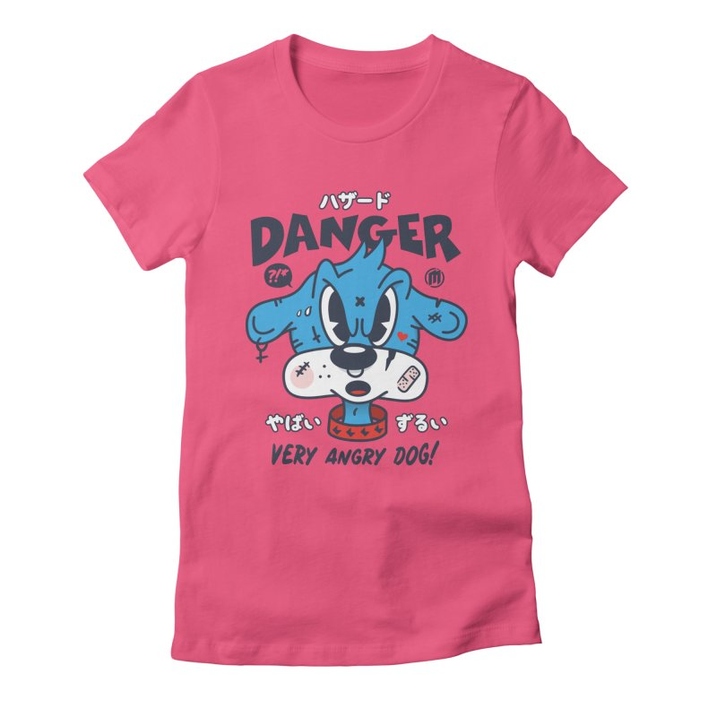 Danger Women's Fitted T-Shirt by MXM — ltd. collection