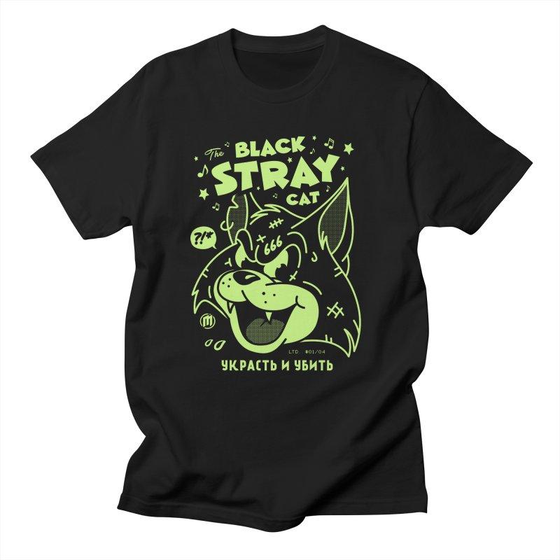 The Black Stray Cat Men's Regular T-Shirt by MXM — ltd. collection