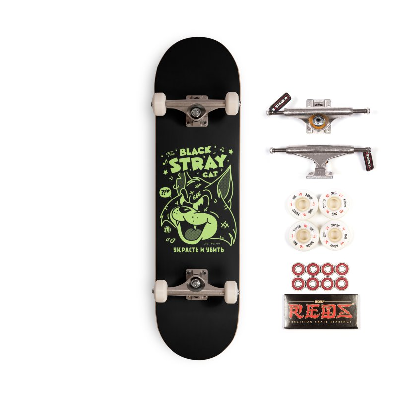 The Black Stray Cat Accessories Skateboard by MXM — ltd. collection