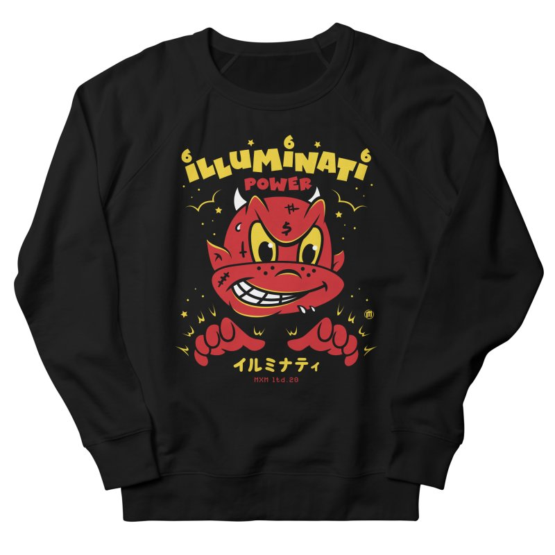 Illuminati Power Men's French Terry Sweatshirt by MXM — ltd. collection