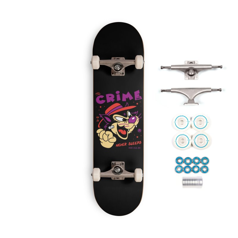 Never Sleeps Accessories Skateboard by MXM — ltd. collection