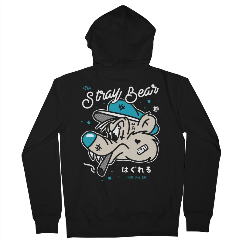 The Stray Bear Men's Zip-Up Hoody by MXM — ltd. collection