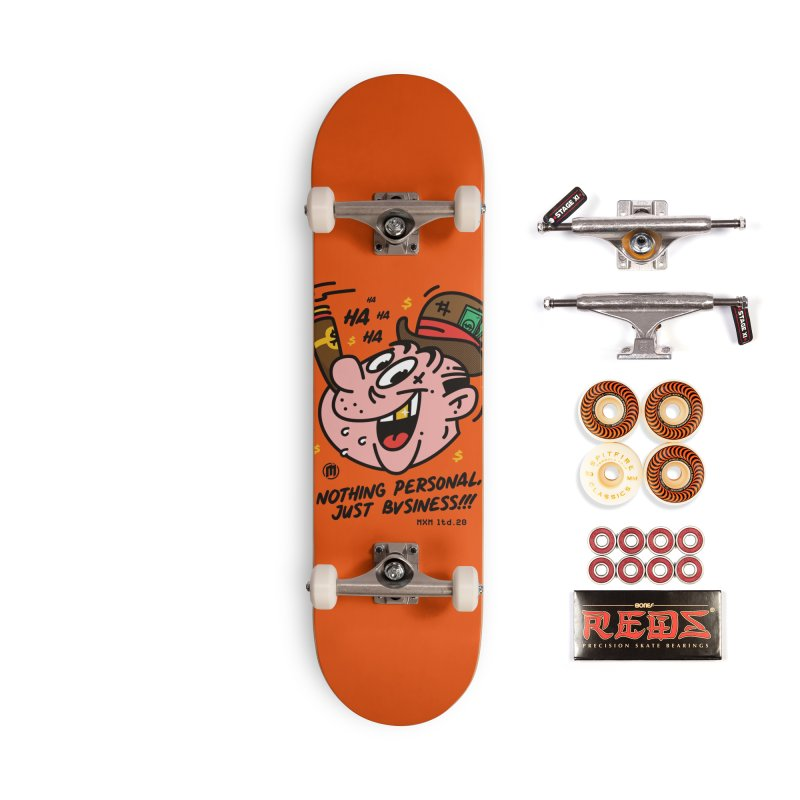 Just Business skaters Skateboard by MAXIMOGRAFICO Ltd. Collection