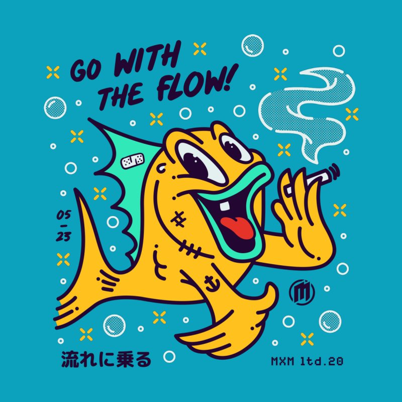 Go With The Flow Men's T-Shirt by MAXIMOGRAFICO Ltd. Collection