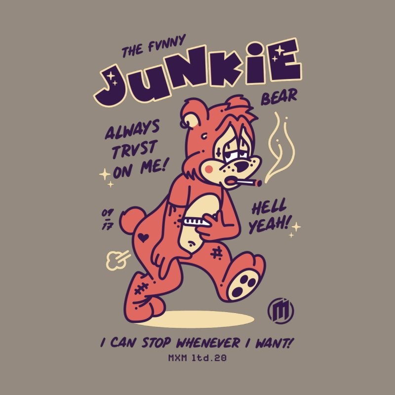 Funny Junkie unisex T-Shirt by MAXIMOGRAFICO Ltd. Collection