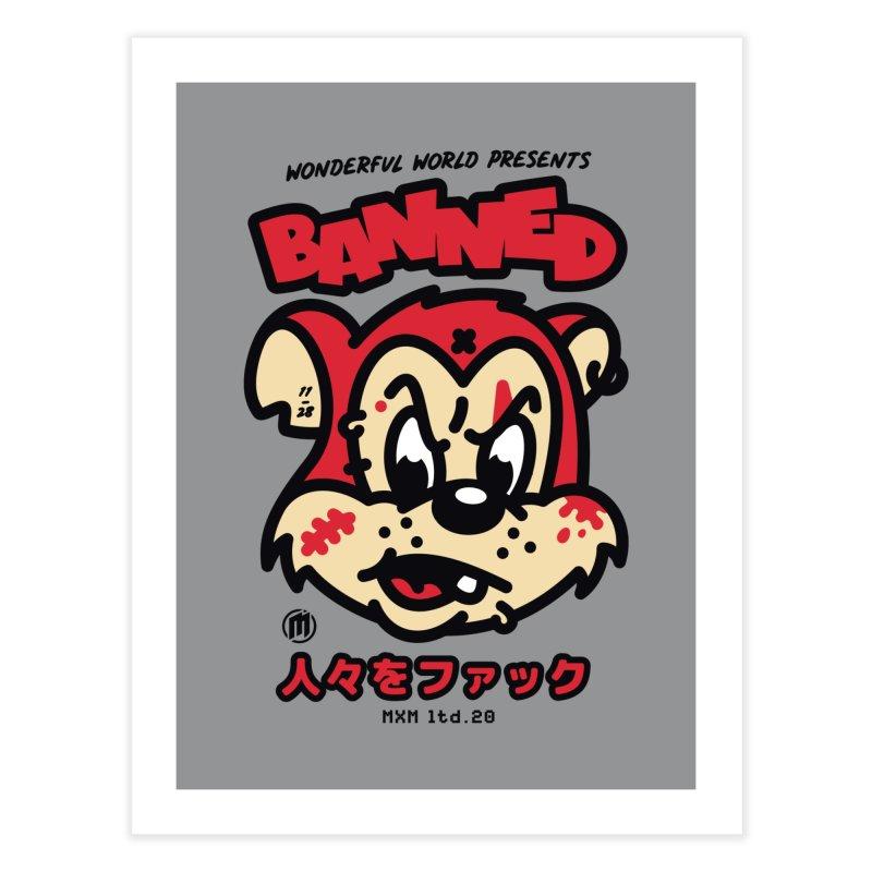 Banned Decor Fine Art Print by MAXIMOGRAFICO Ltd. Collection