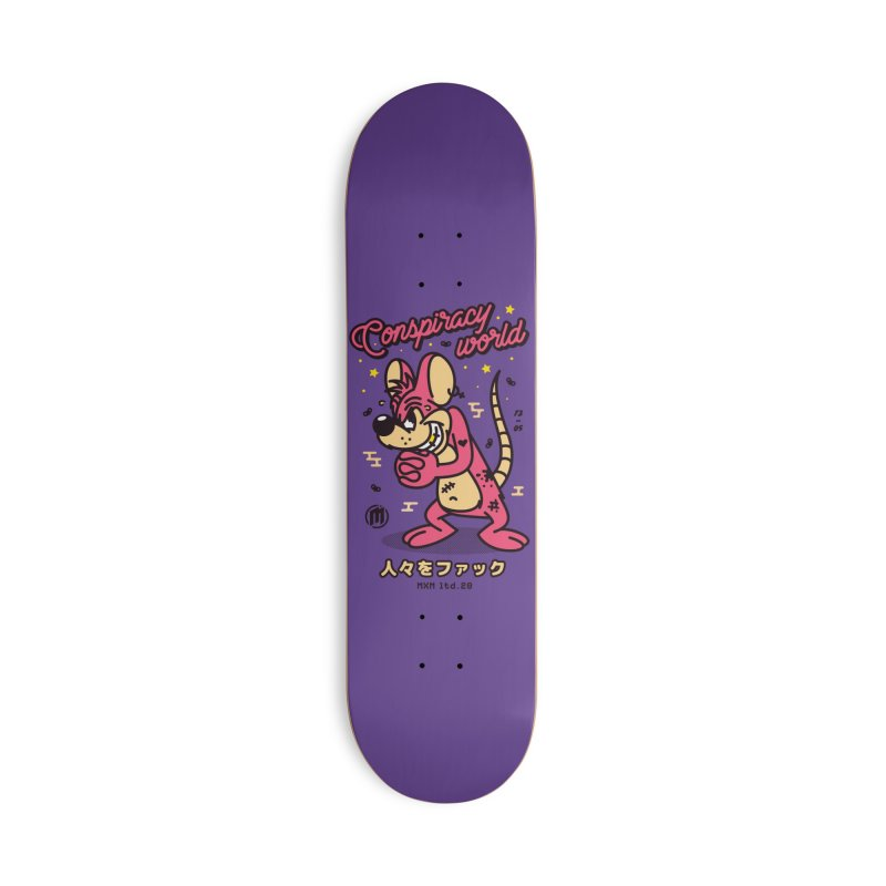 Conspiracy Accessories Skateboard by MAXIMOGRAFICO Ltd. Collection