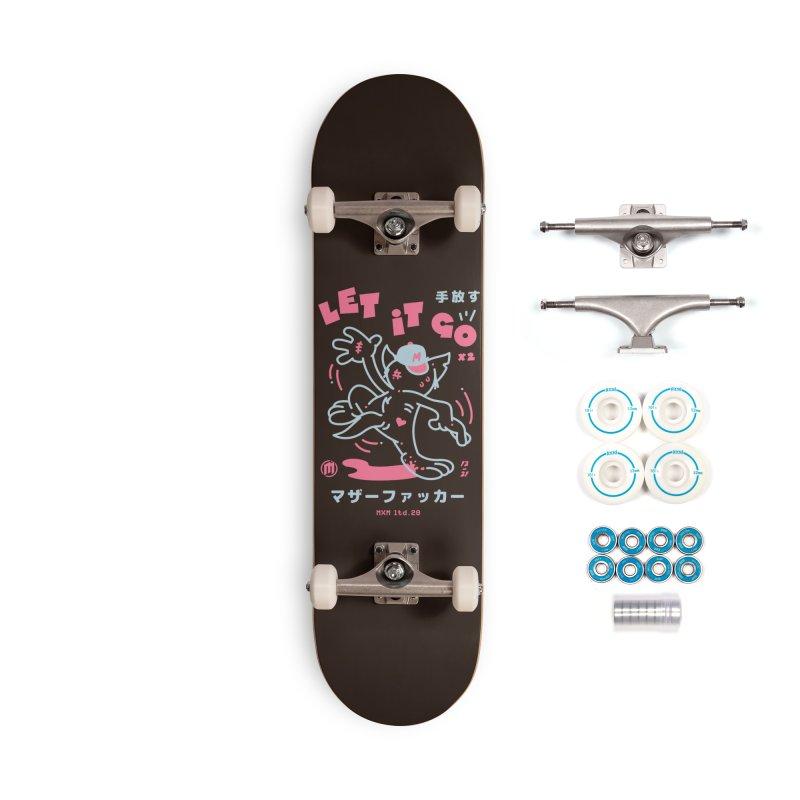 Let It Go Skater's Skateboard by MAXIMOGRAFICO Ltd. Collection