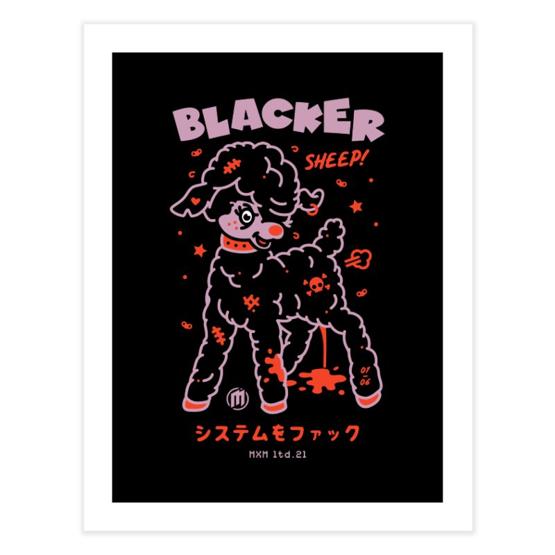 Blacker Decor Fine Art Print by MAXIMOGRAFICO Ltd. Collection