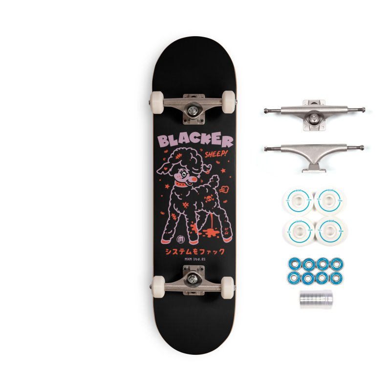 Blacker Skater's Skateboard by MAXIMOGRAFICO Ltd. Collection