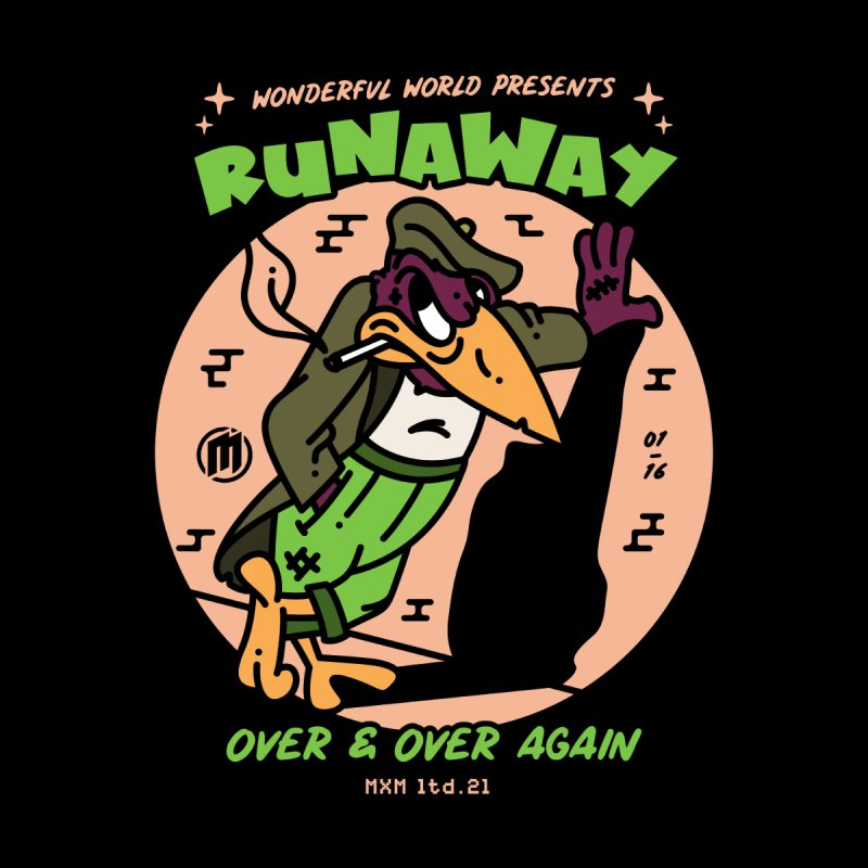 Runaway Skater's Skateboard by MAXIMOGRAFICO Ltd. Collection