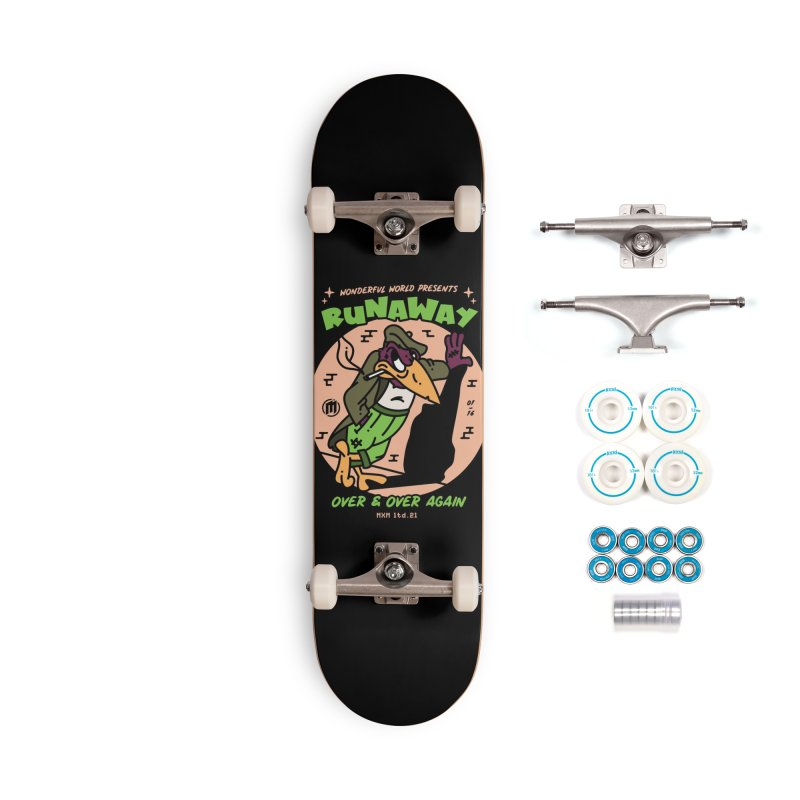 Runaway Skater's Skateboard by MAXIMOGRAFICO Ltd. Collection
