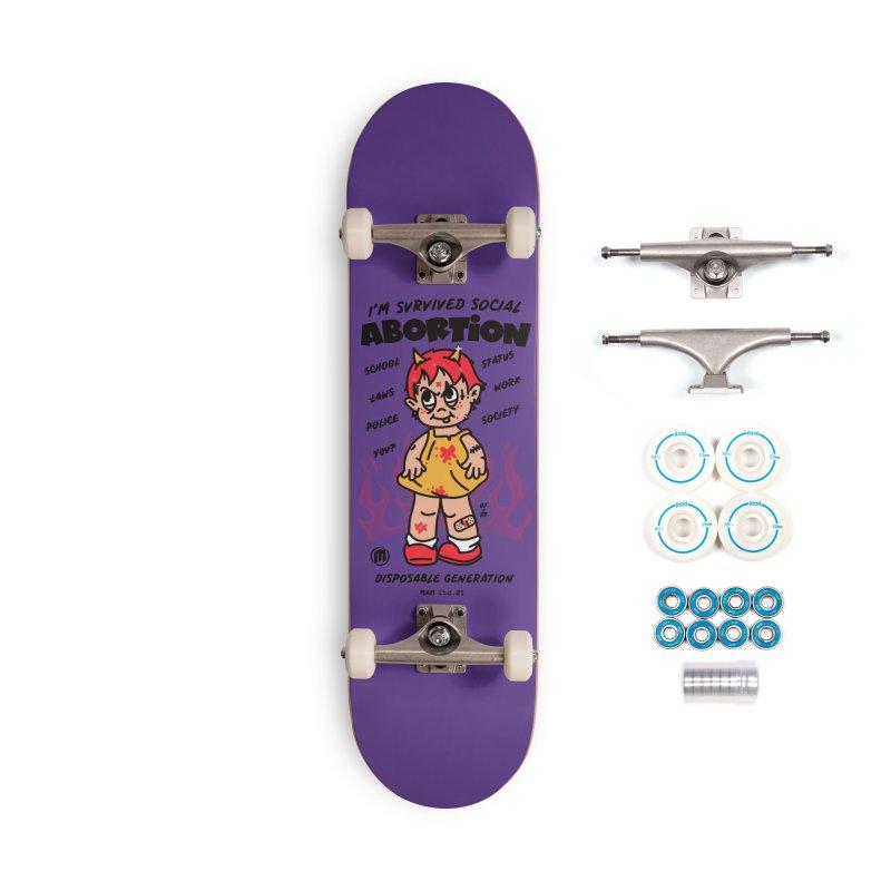 Disposable Skater's Skateboard by MAXIMOGRAFICO Ltd. Collection