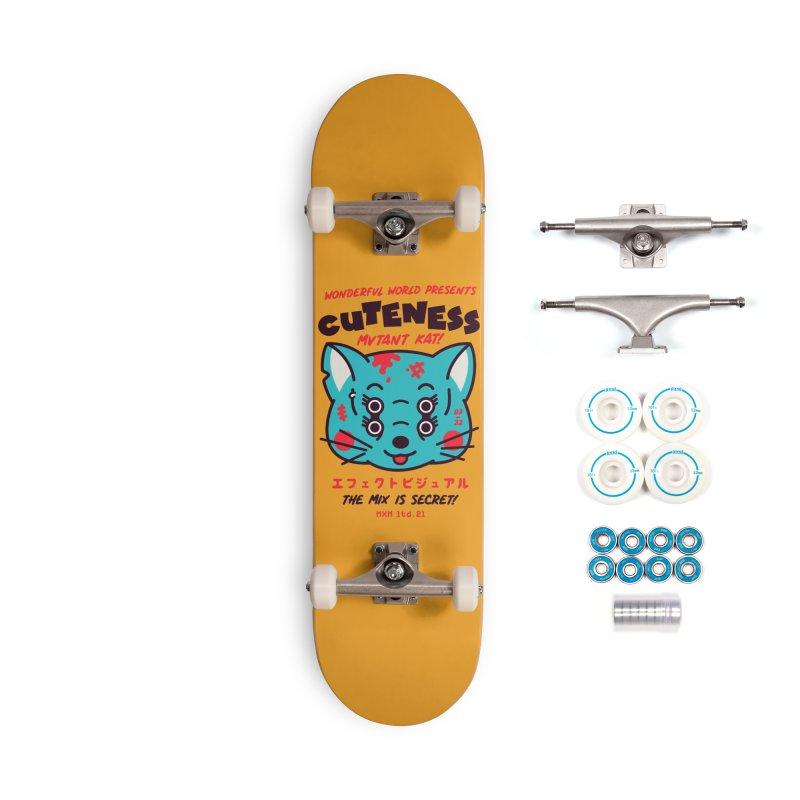 Cuteness Skater's Skateboard by MAXIMOGRAFICO Ltd. Collection