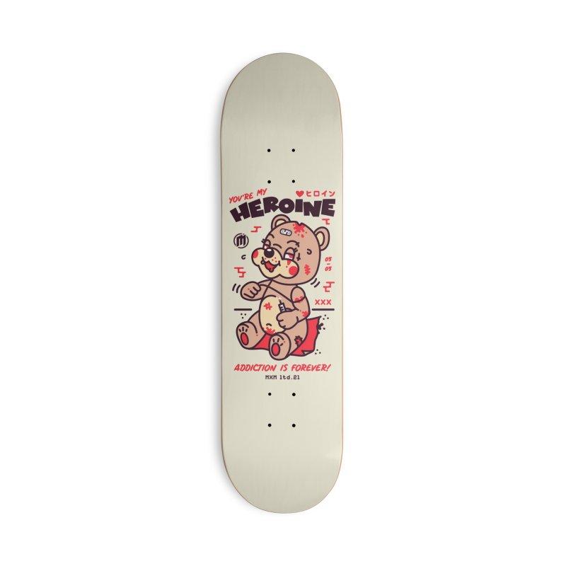 Addiction Skater's Skateboard by MAXIMOGRAFICO Ltd. Collection