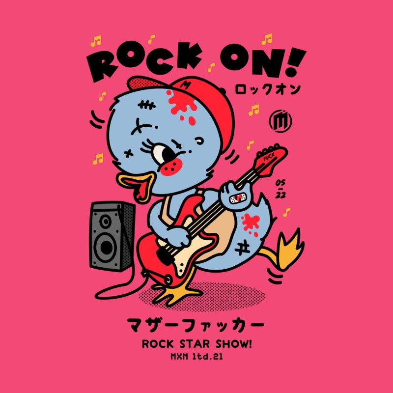 Rock on! fitted T-Shirt by MAXIMOGRAFICO Ltd. Collection