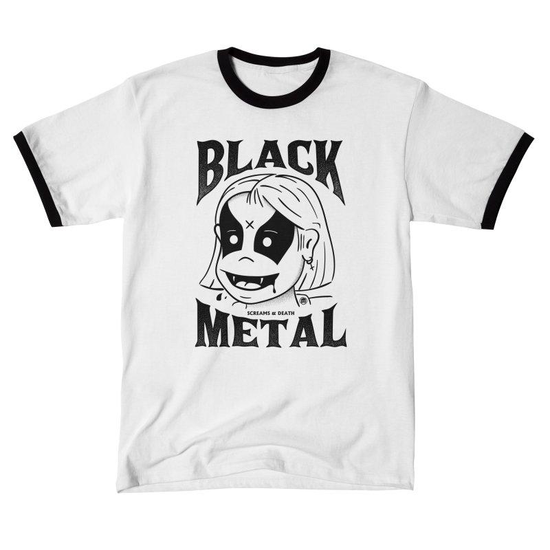 Black Metal Men's T-Shirt by MAXIMOGRAFICO Ltd. Collection