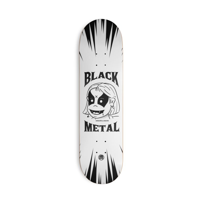 Black Metal Accessories Deck Only Skateboard by MXM — collection