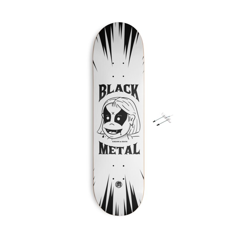 Black Metal Accessories With Hanging Hardware Skateboard by MXM — collection