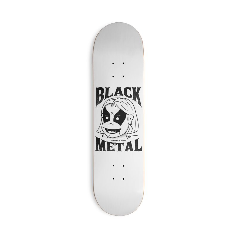 Black Metal Accessories Deck Only Skateboard by MXM — ltd. collection