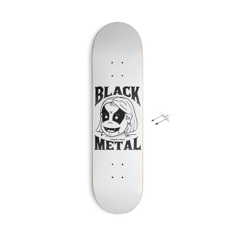 Black Metal Accessories With Hanging Hardware Skateboard by MXM — ltd. collection