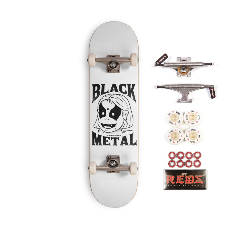 Black Metal Accessories Complete - Pro Skateboard by MXM — ltd. collection
