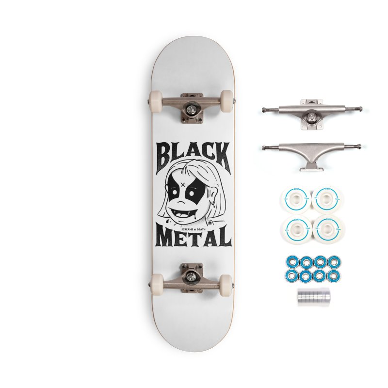 Black Metal Accessories Complete - Basic Skateboard by MXM — ltd. collection