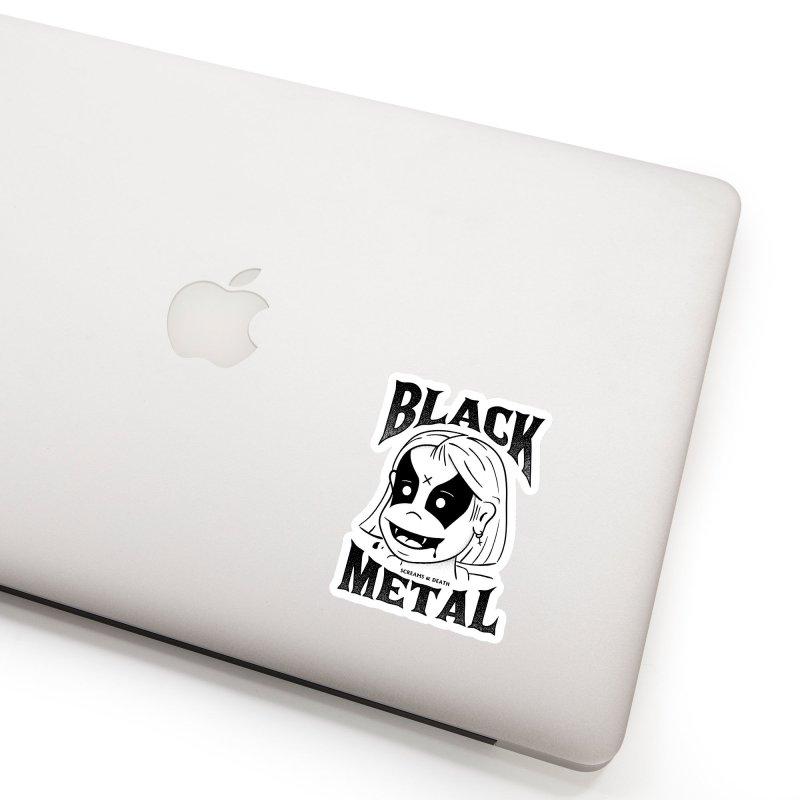 Black Metal Accessories Sticker by MAXIMOGRAFICO — shop