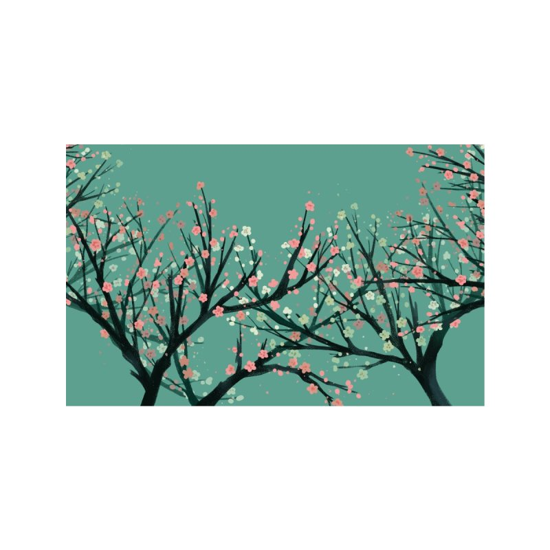 Cherry Tree Accessories Face Mask by Maya Kern