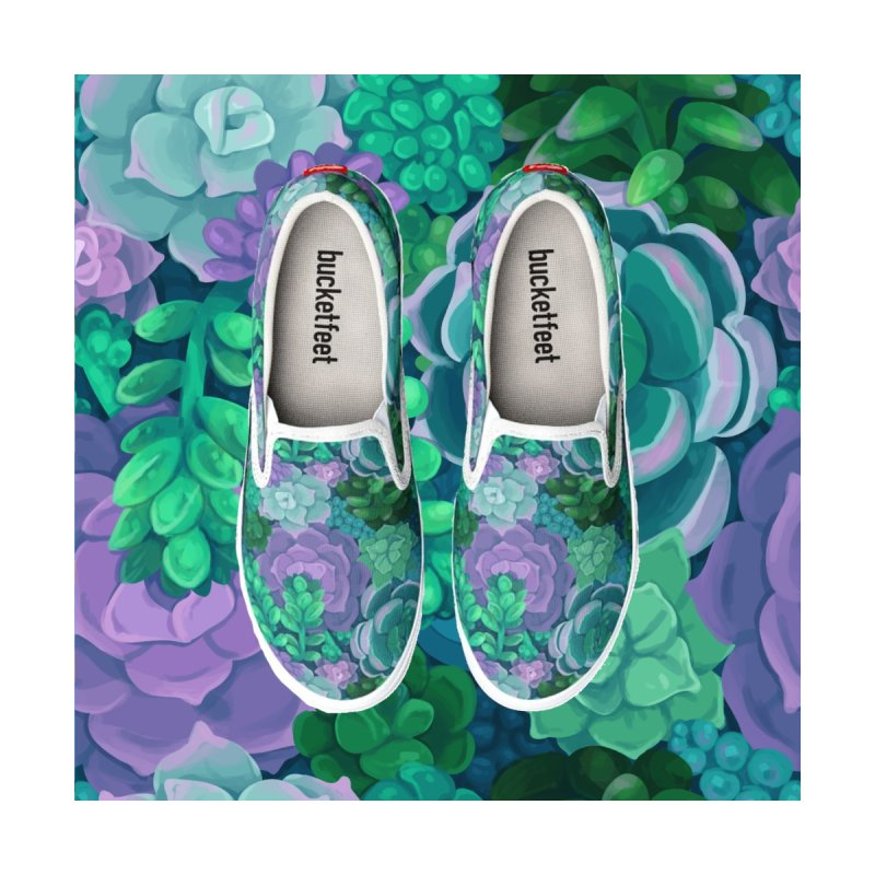 Succulents: Original Flavor Men's Shoes by Maya Kern