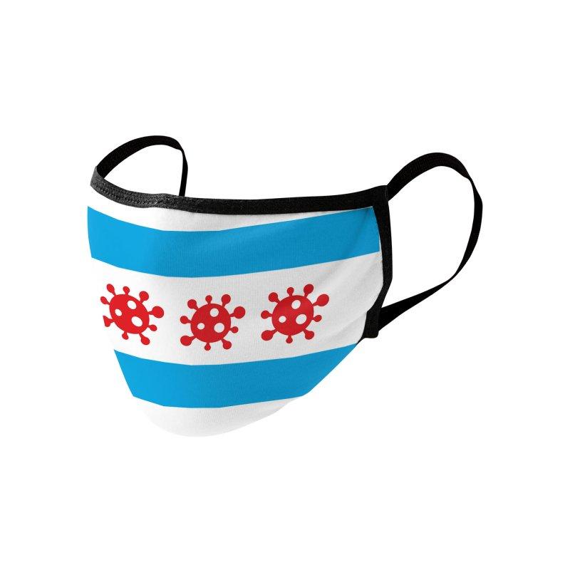 Chicago Coronavirus Flag Accessories Face Mask by Maya Kuper's Artist Shop