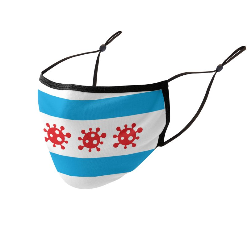 Chicago Coronavirus Flag Accessories Face Mask by Maya Kuper's Artist Shop