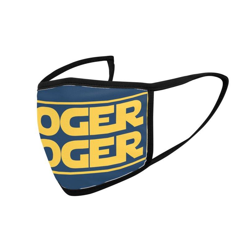 Roger Roger Face Mask Accessories Face Mask by Maya Kuper's Artist Shop