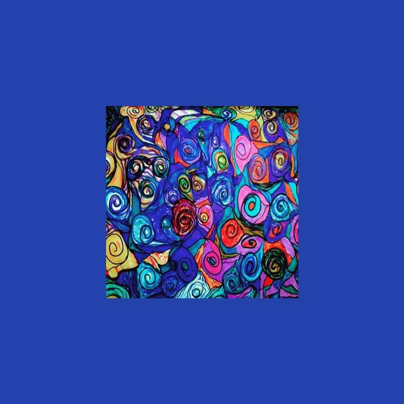 Summer Spirals in Technicolor Home Shower Curtain by Maya's Divine Designs