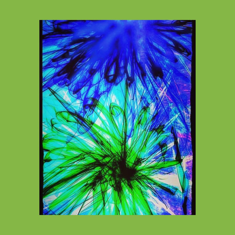 Blue and Green Flowers Home Shower Curtain by Maya's Divine Designs