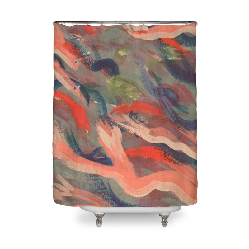 Fish Dancing Home Shower Curtain by Maya's Divine Designs