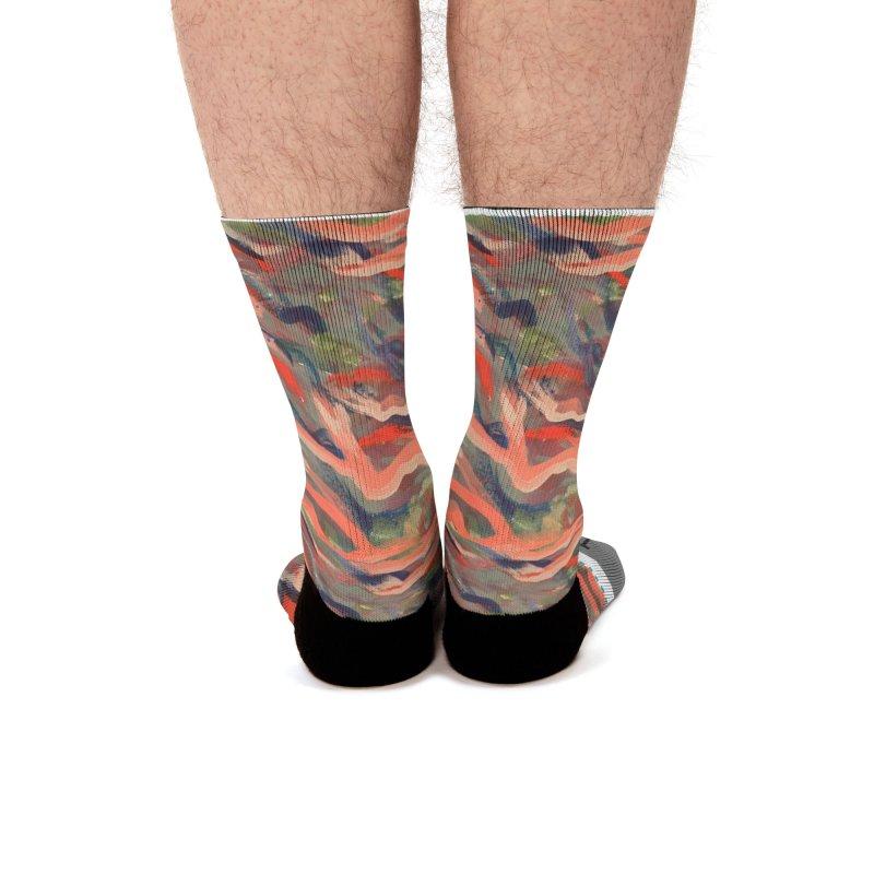 Fish Dancing Men's Socks by mayasdivinedesigns 's Artist Shop