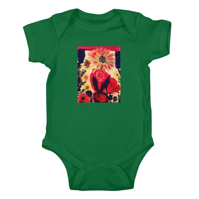 Spring Flowers, Dappled Kids Baby Bodysuit by mayasdivinedesigns 's Artist Shop