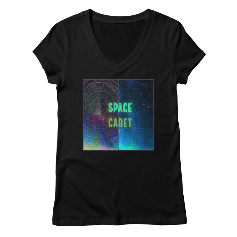 Space Cadet Unisex, fitted V-Neck by Maya's Divine Designs