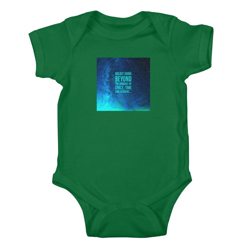 Boldly Going Beyond the Binaries Kids Baby Bodysuit by mayasdivinedesigns 's Artist Shop