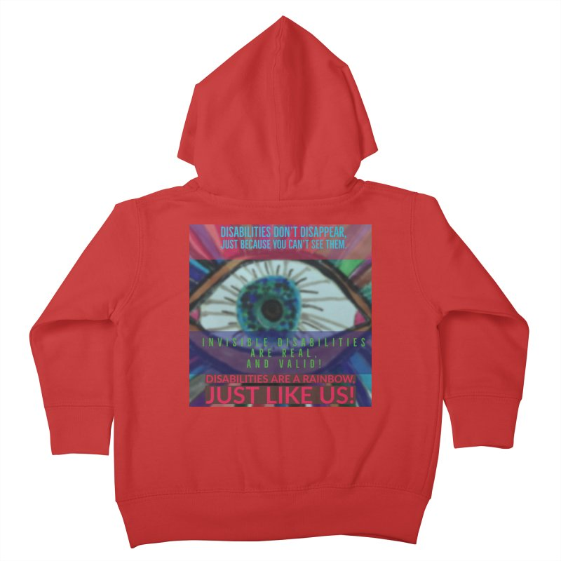 Can U See Me? Invisible Disability Awareness Kids Toddler Zip-Up Hoody by mayasdivinedesigns 's Artist Shop