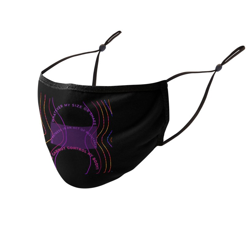 My fatness is an act of resistance! Accessories Face Mask by Maya's Divine Designs