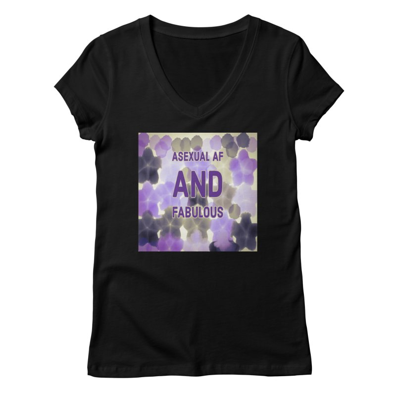 Asexual Pride Unisex, fitted V-Neck by Maya's Divine Designs