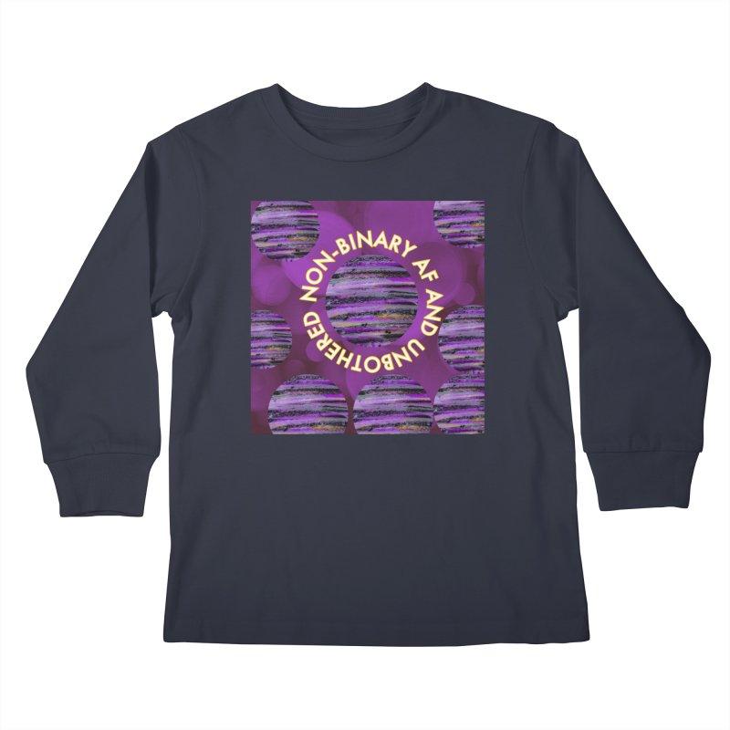 Non-Binary Pride Kids Longsleeve T-Shirt by Maya's Divine Designs
