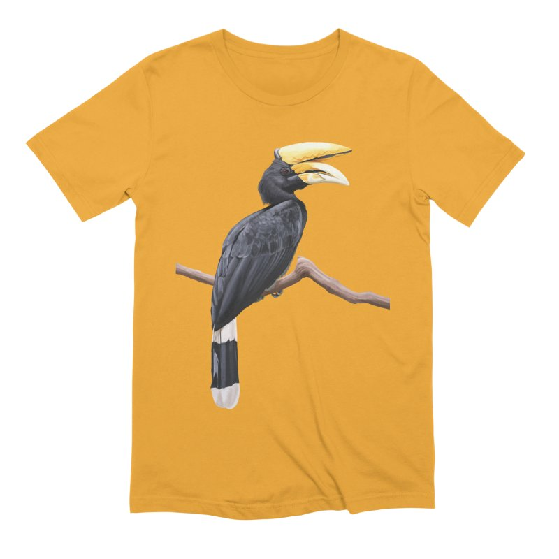 Rhinoceros Hornbill Men's Extra Soft T-Shirt by May Jernigan's Artist Shop