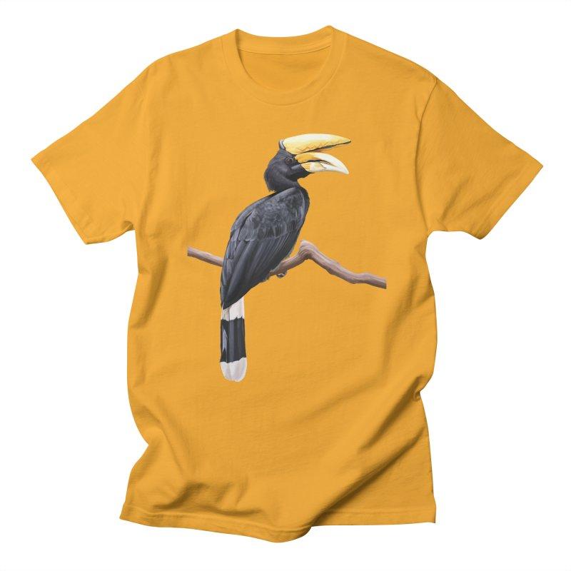 Rhinoceros Hornbill Men's Regular T-Shirt by May Jernigan's Artist Shop