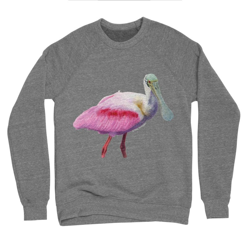 Roseate Spoonbill Adult Men's Sponge Fleece Sweatshirt by May Jernigan's Artist Shop