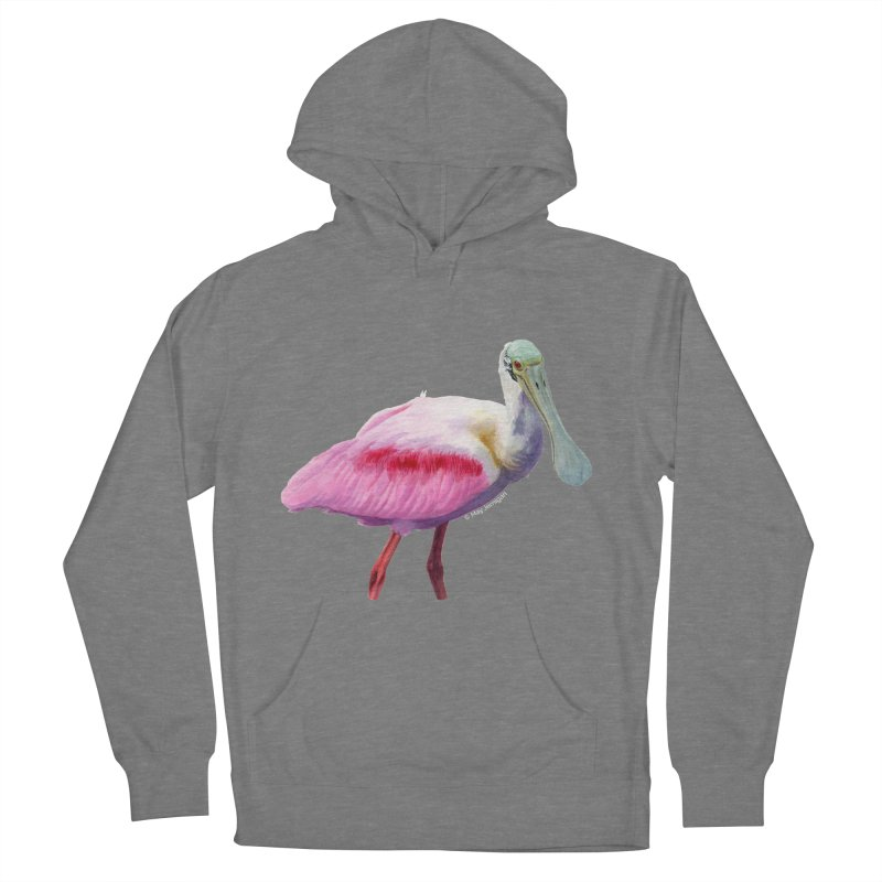Roseate Spoonbill Adult Men's French Terry Pullover Hoody by May Jernigan's Artist Shop