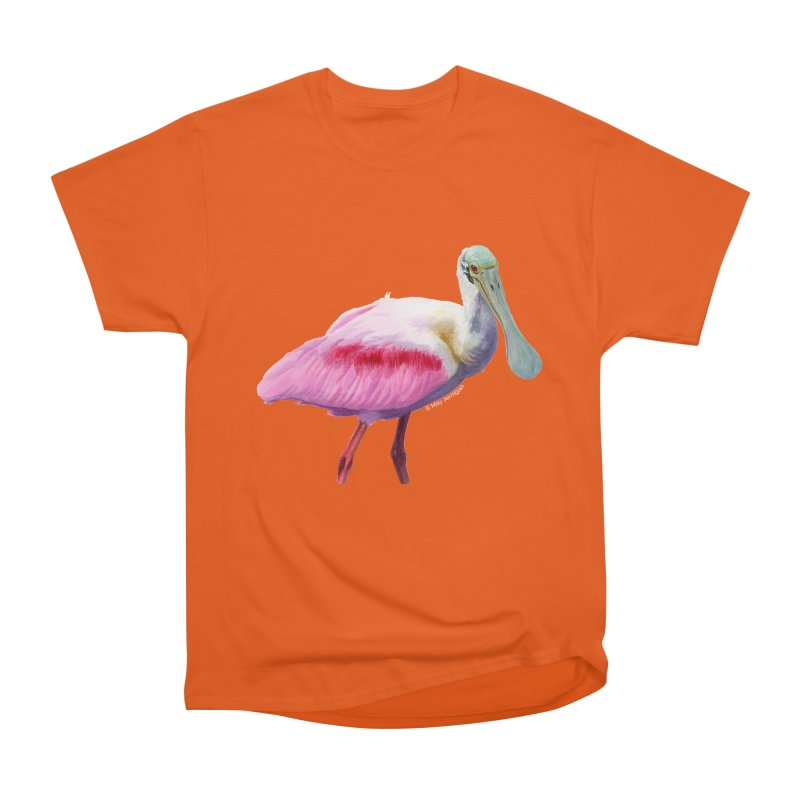 Roseate Spoonbill Adult Men's Heavyweight T-Shirt by May Jernigan's Artist Shop