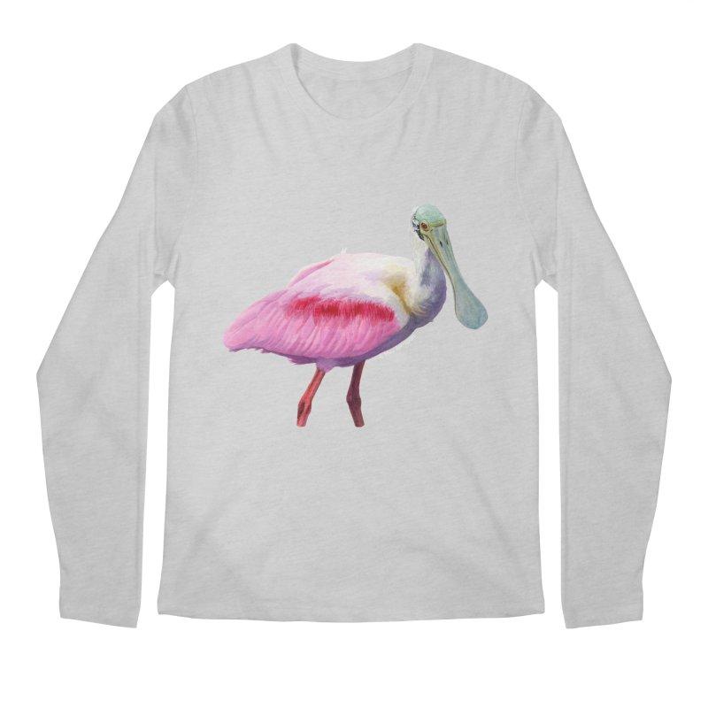 Roseate Spoonbill Adult Men's Longsleeve T-Shirt by May Jernigan's Artist Shop